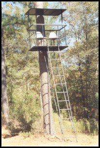 2 seat steel chamber deer stand