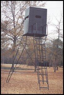 Dog House Fiberglass Stand Black Shadow Deer Stands