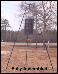 Fully Assembled Deer Feeder Stand