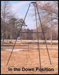 Deer Feeder Stand in the Down Position